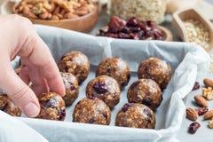 Healthy homemade energy balls, horizontal Stock Photography