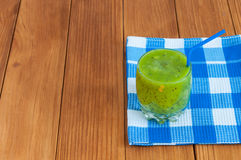 Healthy homemade fresh kiwi juice in glass on Royalty Free Stock Image