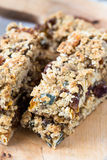 Healthy homemade granola bars Royalty Free Stock Images
