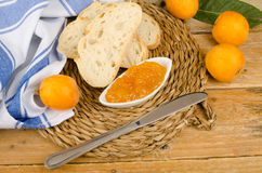 Healthy homemade marmalade stock image