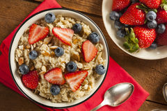 Healthy Homemade Oatmeal with Berries Stock Photos