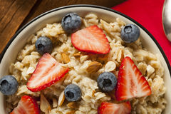 Healthy Homemade Oatmeal with Berries Royalty Free Stock Images
