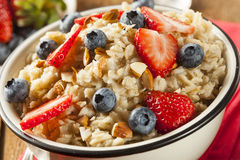 Healthy Homemade Oatmeal with Berries Royalty Free Stock Photo