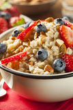 Healthy Homemade Oatmeal with Berries Stock Images