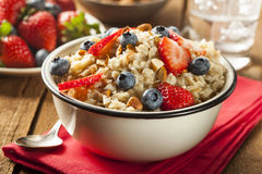 Healthy Homemade Oatmeal with Berries Stock Image