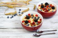 Healthy homemade oatmeal  breakfast Stock Photo