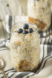 Healthy Homemade Overnight Oats Oatmeal Stock Photography