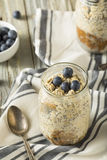 Healthy Homemade Overnight Oats Oatmeal Stock Photos