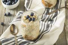 Healthy Homemade Overnight Oats Oatmeal Royalty Free Stock Photography