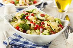 Healthy Homemade Pasta Salad Stock Photos