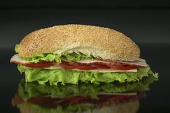 Healthy homemade sandwich Royalty Free Stock Photography