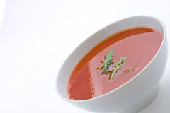 Healthy homemade tomato soup and vegetables Stock Image