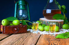 Healthy homemade walnut tincture royalty free stock image