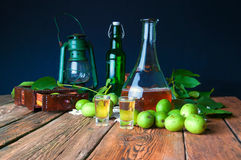 Healthy homemade walnut tincture royalty free stock photography
