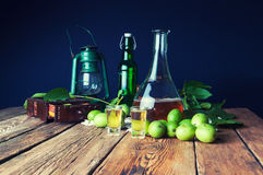 Healthy homemade walnut tincture royalty free stock images