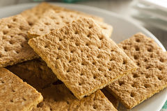 Healthy Honey Graham Crackers Stock Image