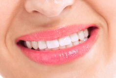 Healthy hygiene female teeth and happy smile Royalty Free Stock Photos