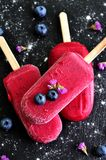 Healthy ice cream from organic berries Stock Photo