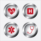 Healthy icons gray Royalty Free Stock Photo