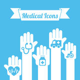 Healthy icons Stock Images