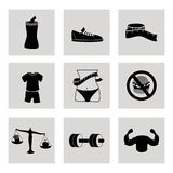 Healthy icons Royalty Free Stock Photography