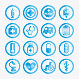Healthy icons Royalty Free Stock Image