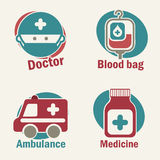 Healthy icons Royalty Free Stock Images