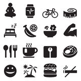 Healthy icons set Vector illustration Royalty Free Stock Photo