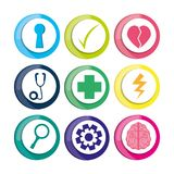 Healthy icons to care mentality human. Vector illustration vector illustration