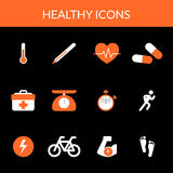 Healthy icons Stock Photos