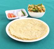 Healthy Indian Food Jowar Roti. Jowar roti or sorghum flat bread, which is an healthy Indian vegetarian food made from the dough of sorghum flour Stock Photo