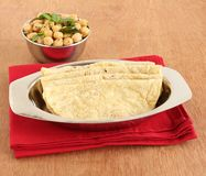 Healthy Indian Food Jowar Roti. Jowar roti or sorghum flat bread, which is an healthy Indian vegetarian food made from the dough of sorghum flour, and chickpea Stock Image