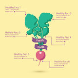 Healthy Infograph Stock Image