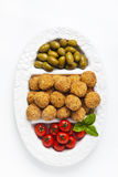 Healthy Italian Appetizer with Risotto Balls Arancini , green Ol Stock Image