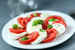 Healthy Italian Caprese salad Royalty Free Stock Image