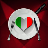 Healthy Italian Food - Restaurant Menu Design Stock Photo