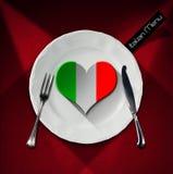 Healthy Italian Food - Restaurant Menu Design Stock Photo