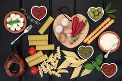 Healthy Italian Food Sampler Stock Image