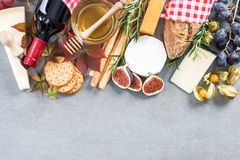 Healthy italinan brunch,border background.  Royalty Free Stock Photos