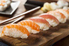 Healthy Japanese Nigiri Sushi. With Rice and Fish Stock Photography
