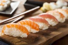 Healthy Japanese Nigiri Sushi stock photography