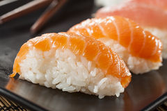 Healthy Japanese Nigiri Sushi Royalty Free Stock Image