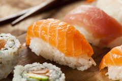Healthy Japanese Nigiri Sushi Royalty Free Stock Photo