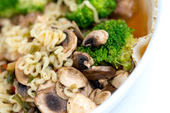 Healthy Japanese ramen noodles with vegetables Stock Photography
