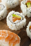 Healthy Japanese Salmon Maki Sushi Stock Image