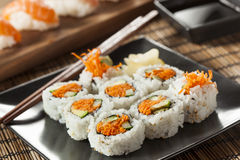 Healthy Japanese Vegetable Maki Sushi Roll Stock Photos
