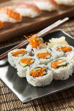 Healthy Japanese Vegetable Maki Sushi Roll Royalty Free Stock Images