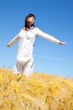 Healthy joyful female life Stock Image