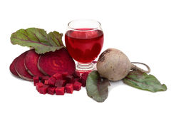 Healthy juice of beet Royalty Free Stock Images