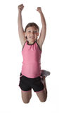 Healthy Jumping Girl Royalty Free Stock Image